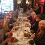 Celebrating with volunteer activists